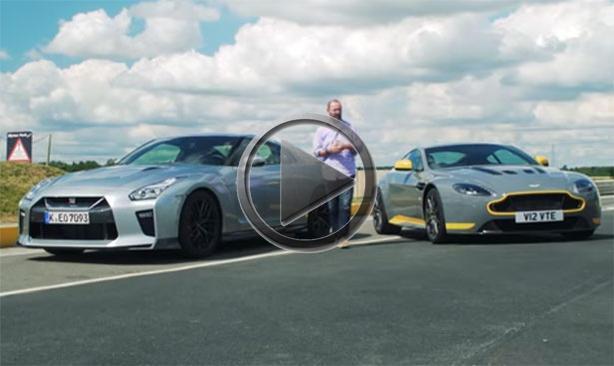 Nissan GT R vs Aston Martin V12 Vantage S