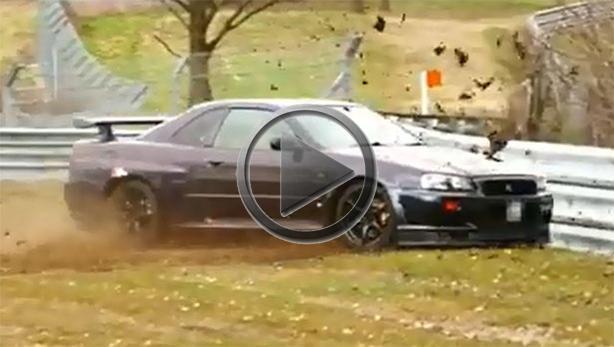Nissan Skyline Gtr For Sale >> Nissan Skyline GT R R34 Crashes On The Nurburgring