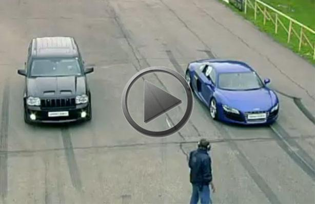 Possible or Not: Jeep Grand Cherokee Smokes Audi R8 V10