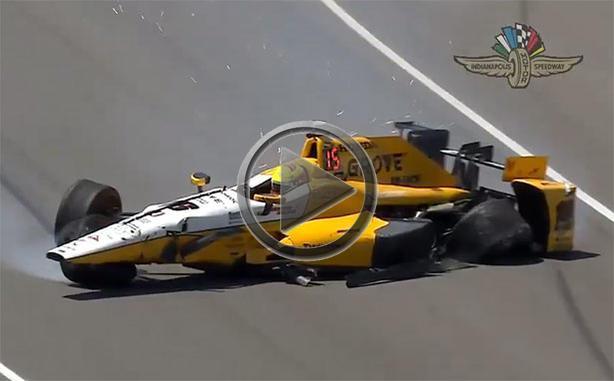 Spencer Pigot Crashes At Indianapolis Motor Speedway