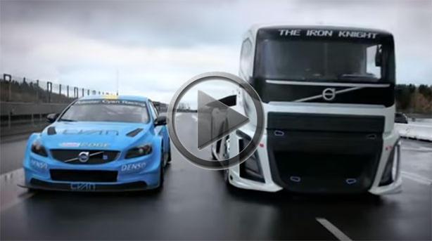 Volvo S60 Polestar vs Racing Truck